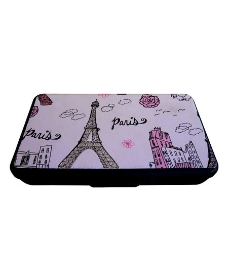 Black & Pink Paris Sparkle Wipes Clutch