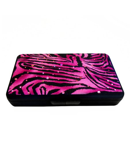 Pink & Black Zebra Sparkle Wipes Clutch