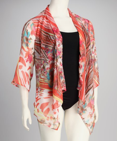 Kaktus Coral Plus-Size Cover-Up