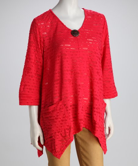 Kaktus Deep Coral Handkerchief Top