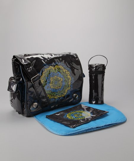 Blue & Yellow Messenger Diaper Bag
