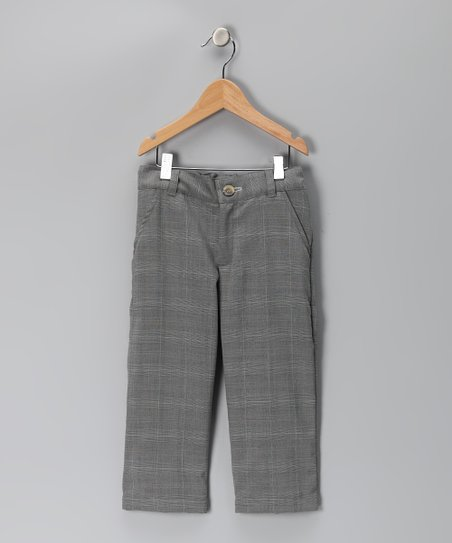 KandyCrew Gray Plaid Wyatt Pants - Infant, Toddler &amp; Boys
