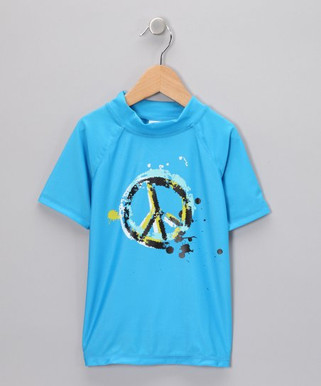 Kanu Surf Blue Peace Rashguard - Toddler & Girls