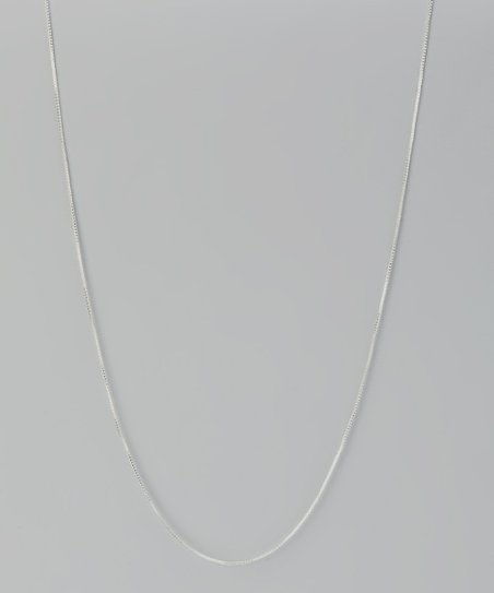 Sterling Silver 16'' Box Chain Necklace