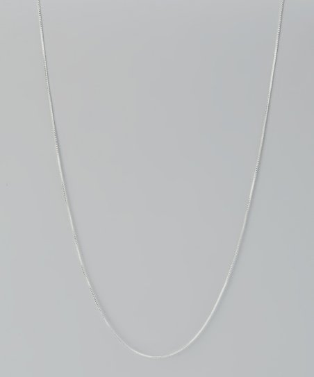 Sterling Silver 18'' Box Chain Necklace