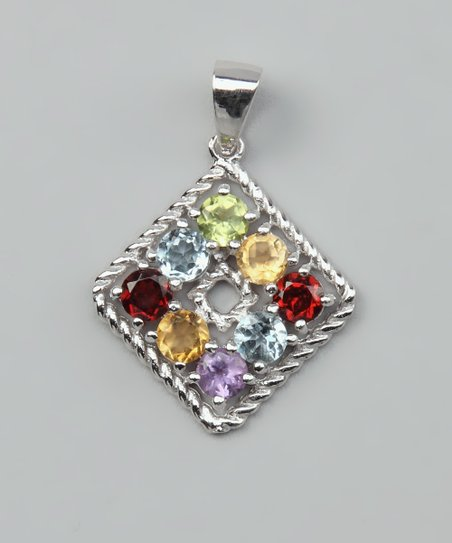 Gemstone & Sterling Silver Pendant