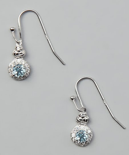 Blue Topaz &amp; Sterling Silver Drop Earrings
