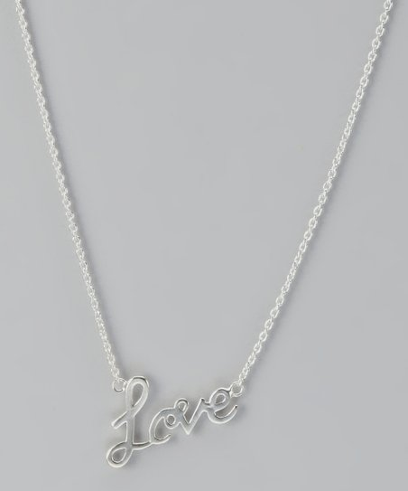 Sterling Silver Evergreen 'Love' Pendant Necklace