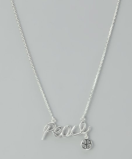 Sterling Silver &#039;Peace&#039; Necklace