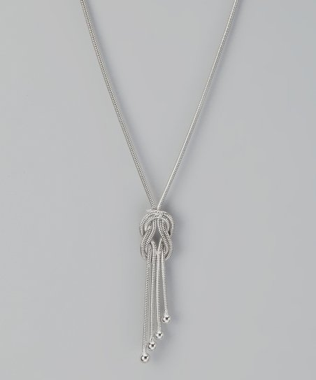 Sterling Silver Tassel Pendant Necklace
