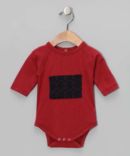Mineral Red Patch Organic Bodysuit - Infant