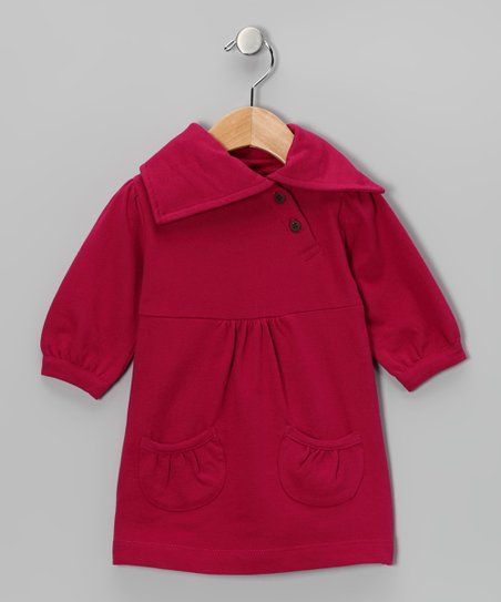Raspberry Organic Pocket Dress - Infant, Toddler & Girls