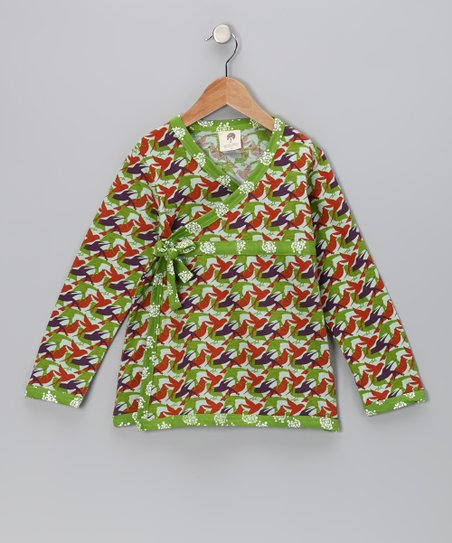 Bird Bow Organic Wrap Tunic - Infant, Toddler & Girls