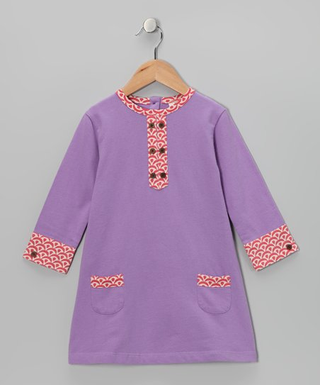Amethyst Double Button Organic Dress - Infant & Toddler