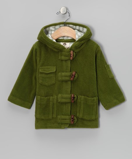 Dill Toggle Organic Sherpa Coat - Infant &amp; Kids