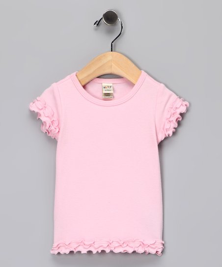 Baby Pink Lettuce-Edge Tee - Infant, Toddler & Girls