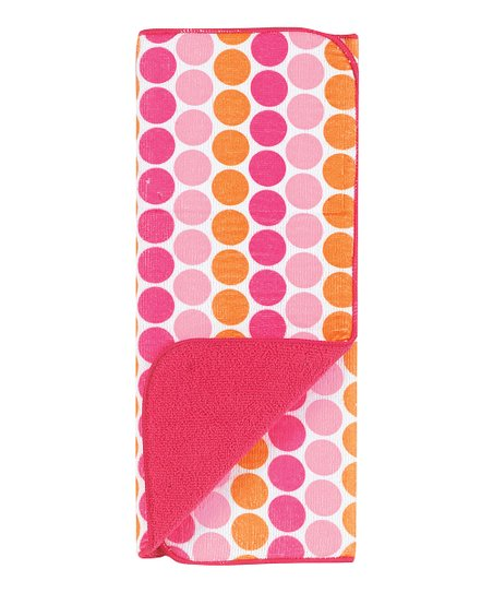 Kay Dee Designs Pink Dot Reversible Microfiber Drying Mat