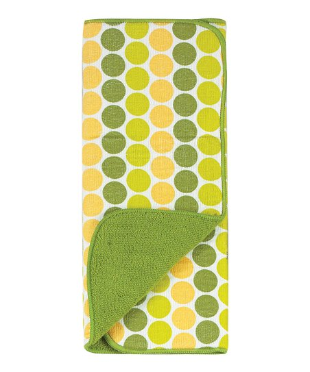 Kay Dee Designs Green Dot Reversible Microfiber Drying Mat