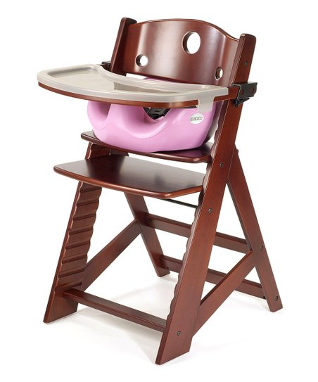 Keekaroo Mahogany & Lilac Right Height High Chair