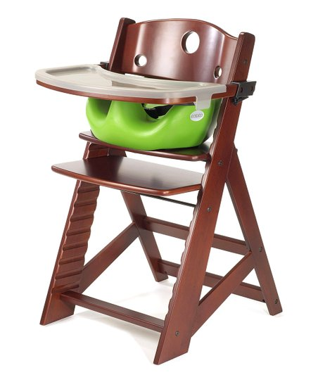 Keekaroo Mahogany & Lime Right Height High Chair