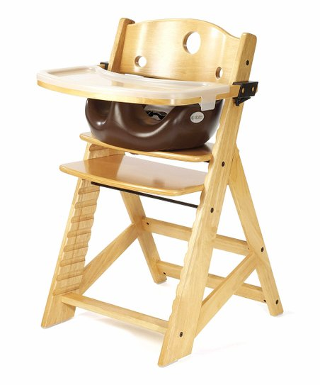 Keekaroo Natural & Chocolate Right Height High Chair