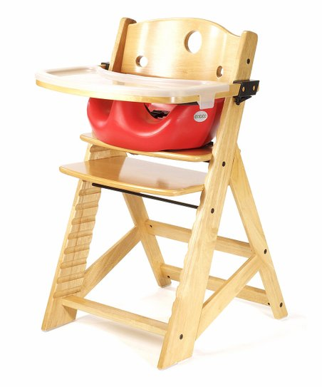 Keekaroo Natural & Cherry Right Height High Chair