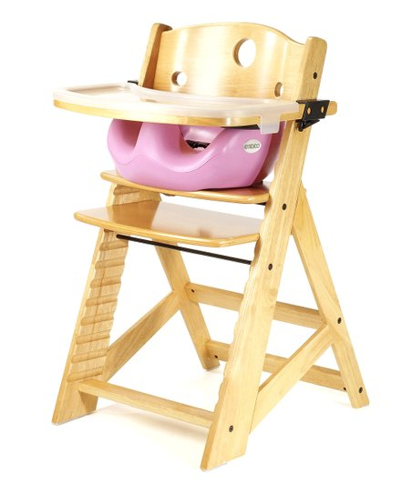 Keekaroo Natural & Lilac Right Height High Chair