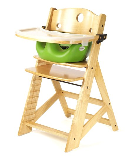 Keekaroo Natural & Lime Right Height High Chair