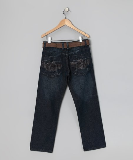 Dark Vintage Fashion Straight-Leg Jeans - Boys