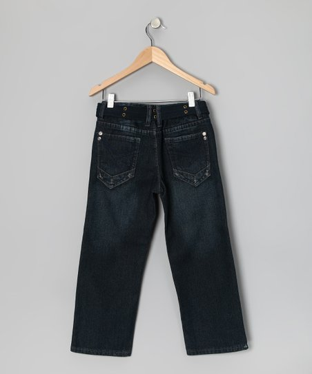 Charcoal Gray Fashion Straight-Leg Jeans - Boys