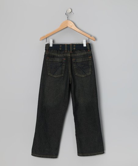 Copper-Wash Fashion Straight-Leg Jeans - Boys