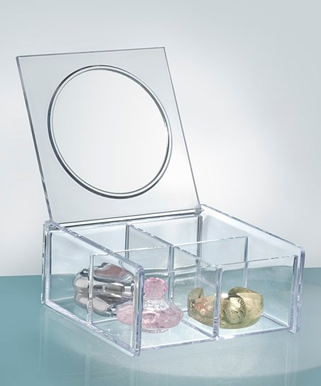 Clear Mirror Jewelry Box