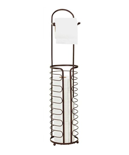 Rust Hammered Wire Toilet Paper Holder