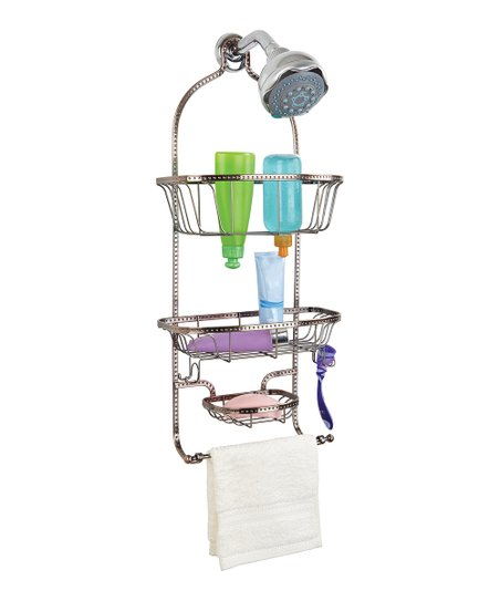 Copper Hammered Wire Three-Tier Shower Caddy