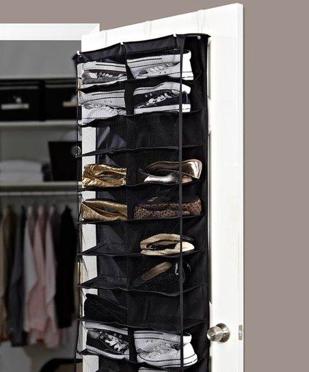 Black 26-Pocket Over-Door Shoe Organizer