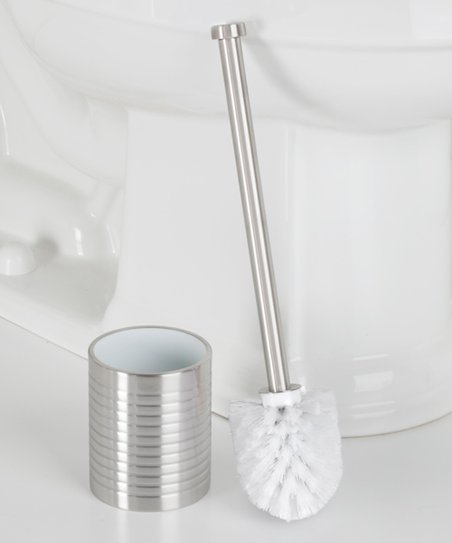 Contemporary Stainless Steel Toilet Brush Set