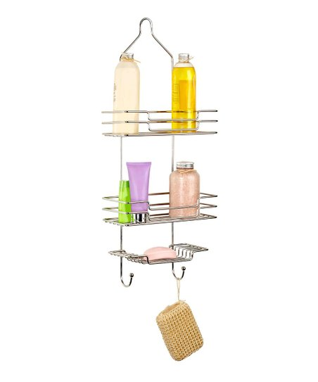 Stainless Steel Three-Tier Shower Caddy