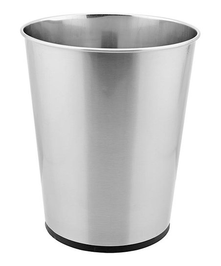 Stainless Steel Contemporary Bathroom Trash Can