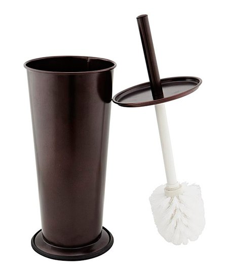 Rust Contemporary Toilet Brush & Holder