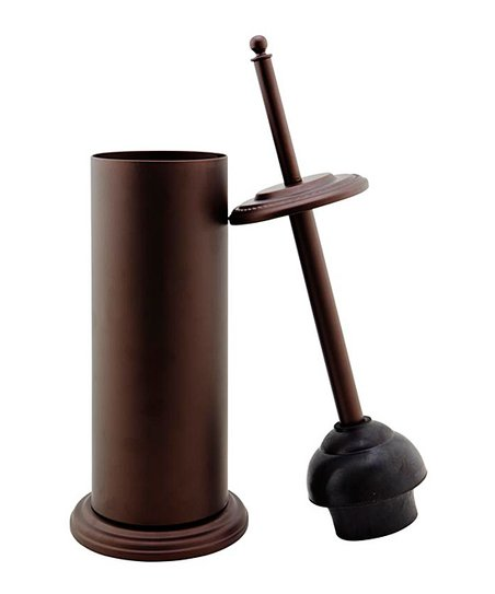 Rust Contemporary Plunger & Holder