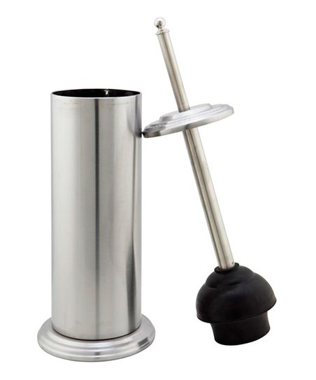 Stainless Steel Contemporary Plunger & Holder