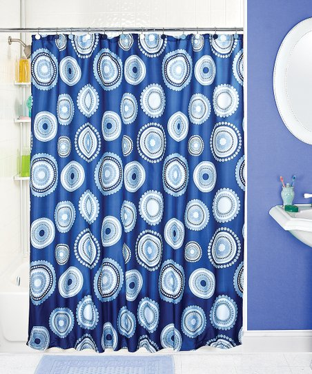 Blue Modern Shower Curtain