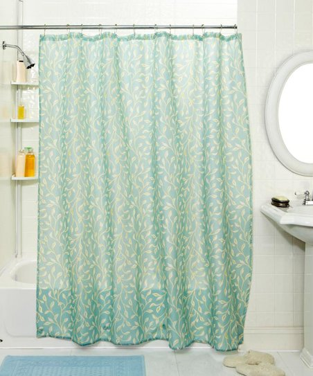 Blue Vine Shower Curtain & Hook Set