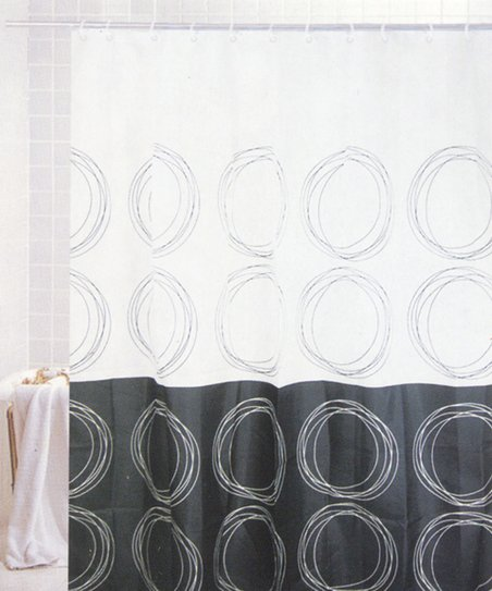 Positive & Negative Shower Curtain & Hook Set