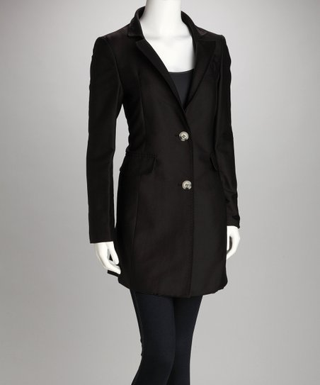 Black Two-Button Coat