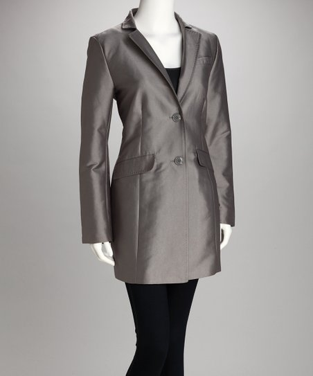 Chrome Two-Button Coat - Women