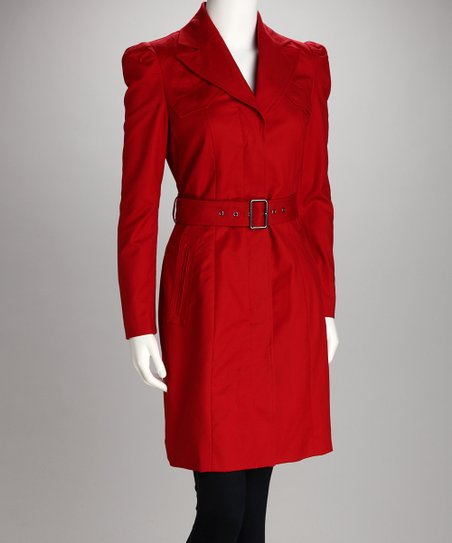 Sangria Belted Trench Coat