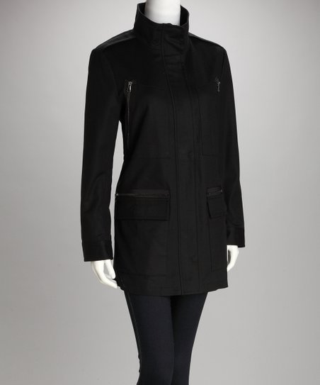 Black Zip Pocket Coat