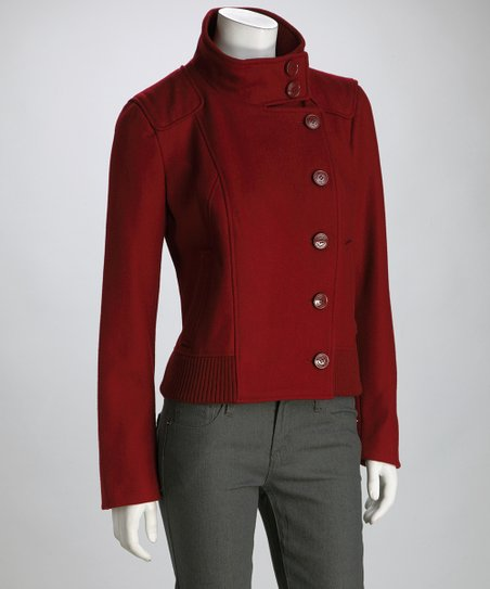 Garnet Military Wool-Blend Coat