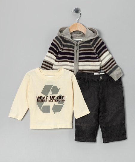 Cream 'Wear Me Out' Sweater Set - Toddler